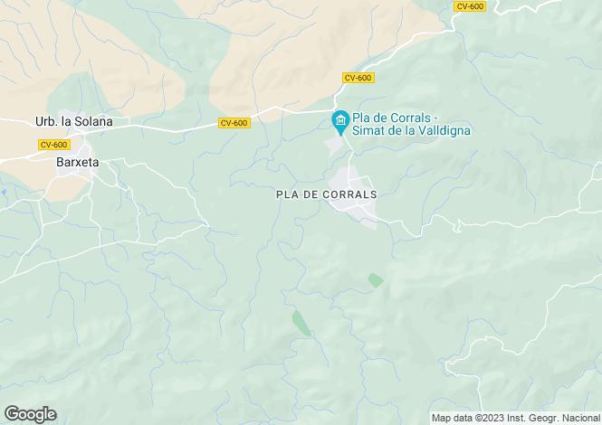 Map for Barxeta, Valencia, Valencia