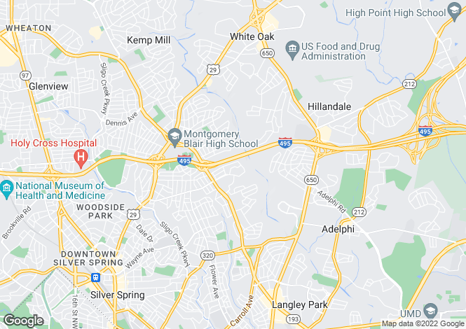 Map for USA - Maryland, Montgomery County, Silver Spring