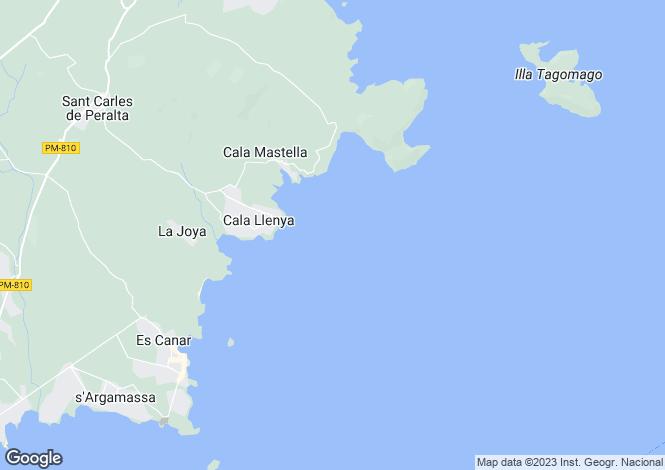 Map for San Carlos, Ibiza, Balearic Islands