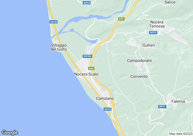 Map for Calabria, Catanzaro, Nocera Terinese