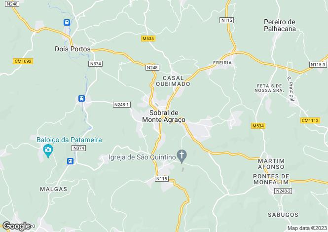Map for Sobral de Monte Agraço, Sobral de Monte Agraço, Lisboa