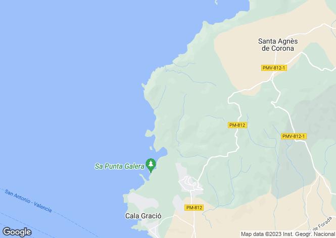 Map for Villa Landscape, Cala Salada, Ibiza, Spain
