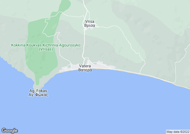 Map for North Aegean, Lesbos, Vatera