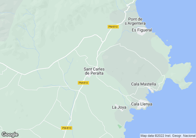 Map for Balearic Islands, Ibiza, Sant Carles De Peralta