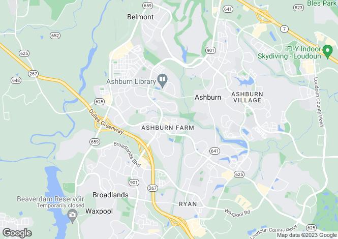 Map for USA - Virginia, Loudoun County, Ashburn