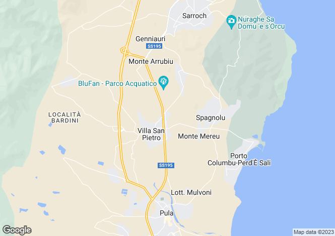 Map for Villa San Pietro, Cagliari, Sardinia