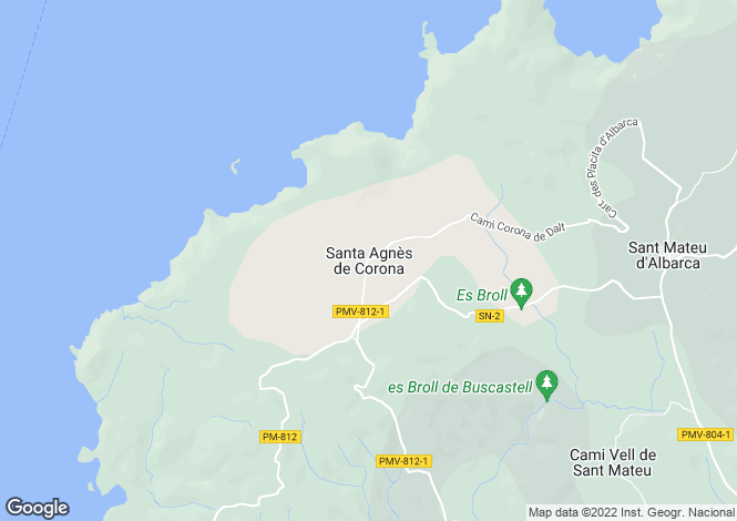 Map for Balearic Islands, Ibiza, Santa Ines