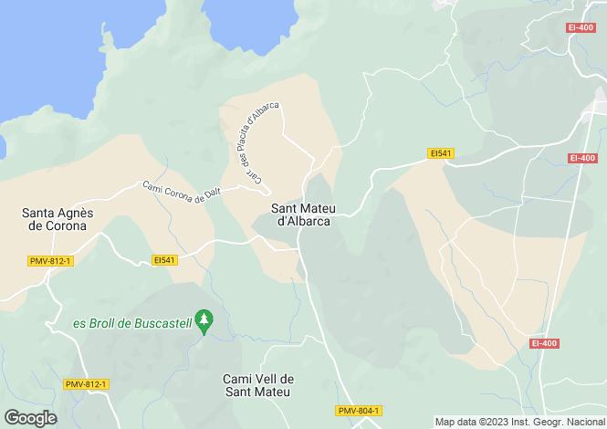 Map for Balearic Islands, Ibiza, San Mateo