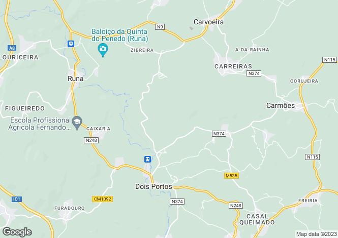 Map for Portugal,Lisboa,Dois Portos