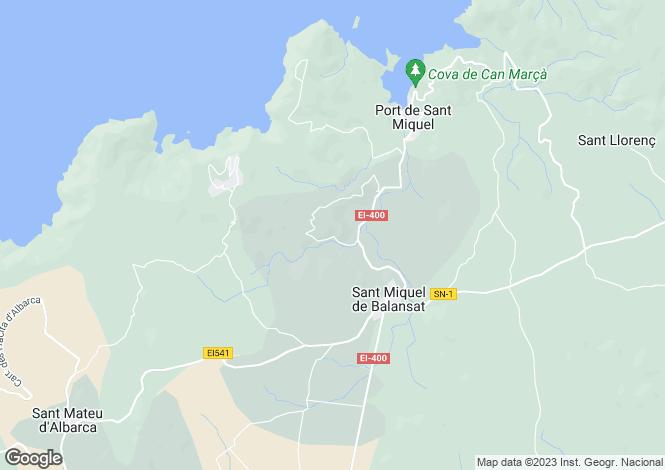 Map for Balearic Islands, Ibiza, Sant Joan De Labritja