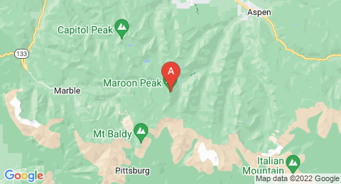 map of North Maroon Peak (United States of America)