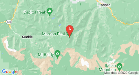 map of Maroon Peak (United States of America)