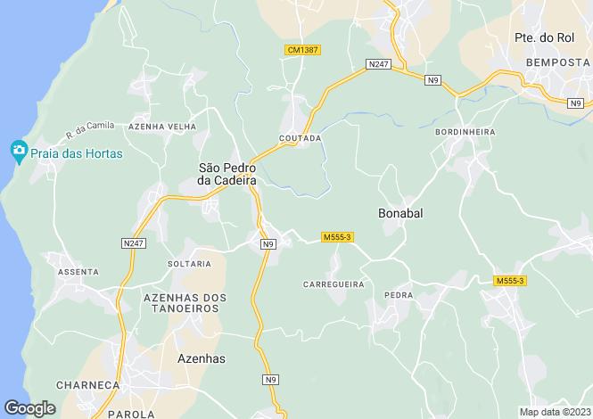 Map for Portugal,Lisboa,São Pedro da Cadeira