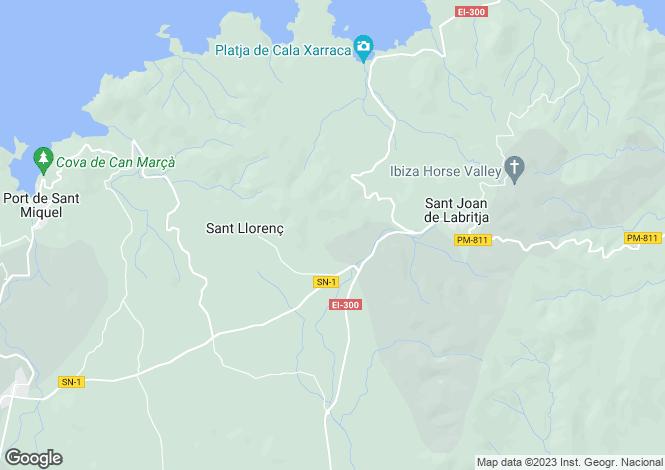 Map for Spain - Balearic Islands, Ibiza, Sant Joan De Labritja