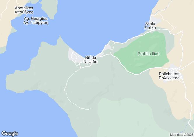 Map for North Aegean, Lesbos, Nyfida