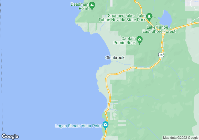 Map for Nevada, Douglas County, Glenbrook