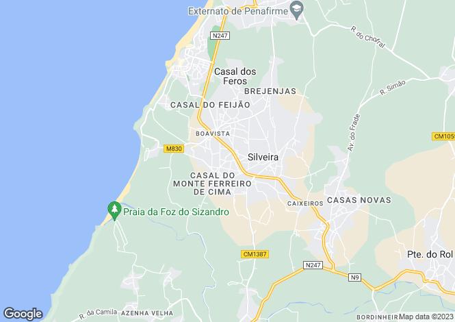 Map for Lisbon, Torres Vedras