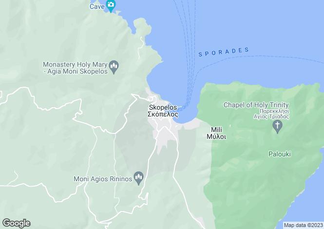 Map for Chora (Main town), Sporades, Greece