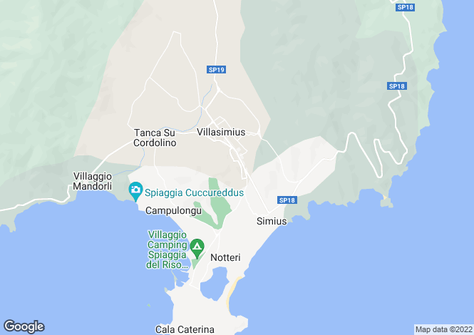 Map for Costa Rei,Italy