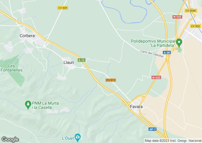 Map for Llaurí, Valencia, Valencia