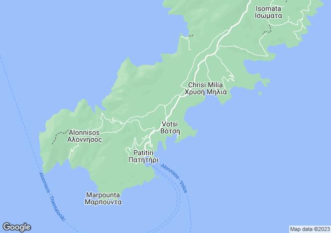 Map for Alonnisos, Magnesia, Thessalia