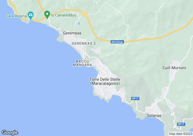 Map for Sardinia, Cagliari, Maracalagonis