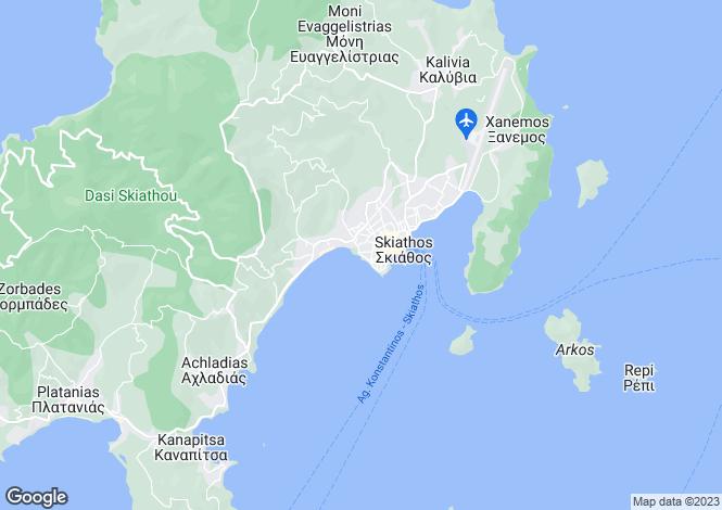 Map for Skiathos, Sporades Islands, Greece