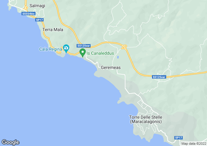 Map for Sardinia, Cagliari, Quartu Sant`Elena