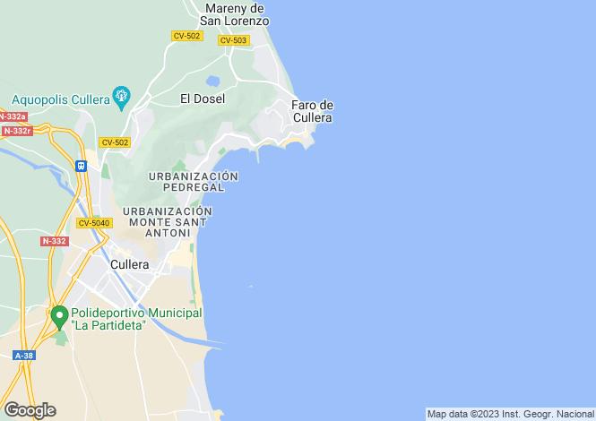 Map for Cullera, Valencia, Valencia