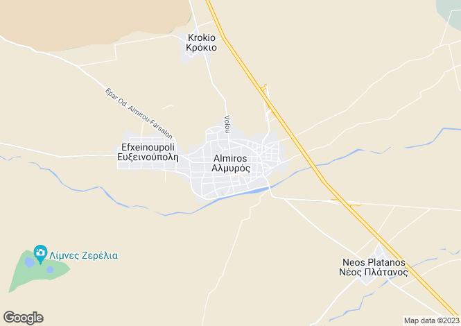 Map for Settlement Almyrou, Almyros, Greece