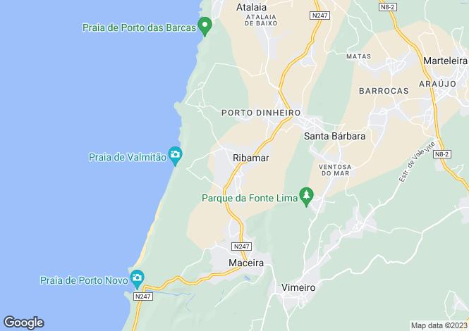 Map for Ribamar, Lourinhã, Lisboa