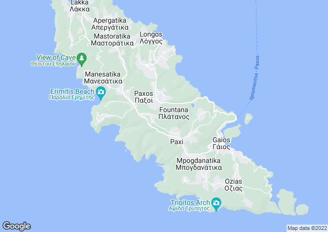 Map for BAY VIEW VILLA, Paxos