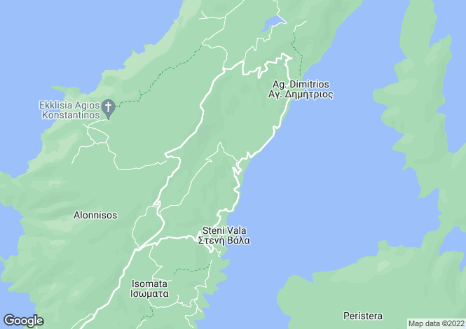 Map for Thessalia, Magnesia, Alonnisos