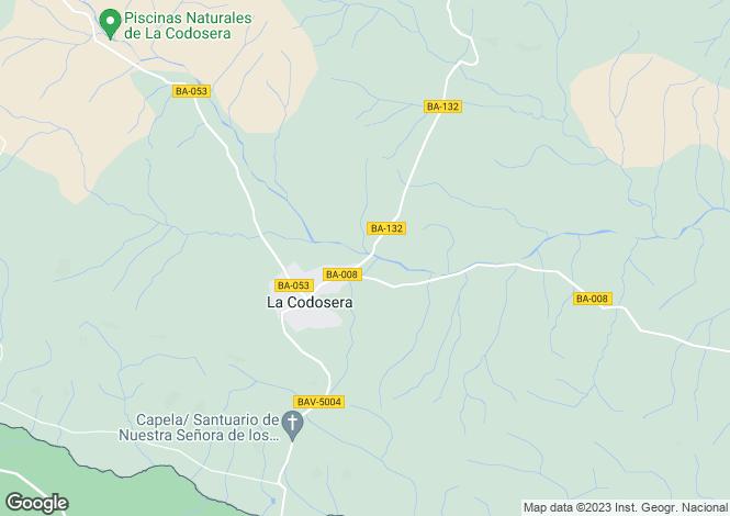 Map for Extremadura, Badajoz, La Codosera