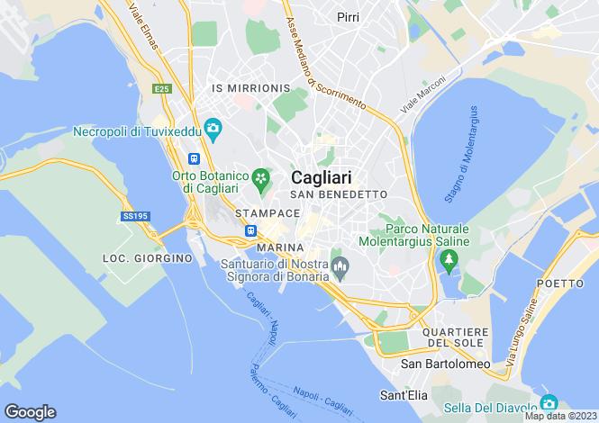 Map for Sardinia, Cagliari, Cagliari