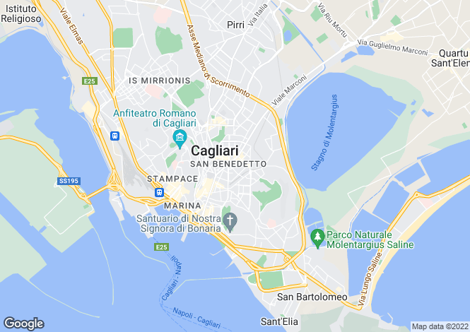 Map for Cagliari, Cagliari, Sardinia