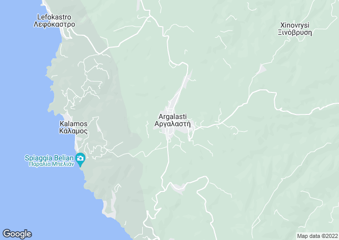 Map for Settlement Argalastis, Pilio, Greece
