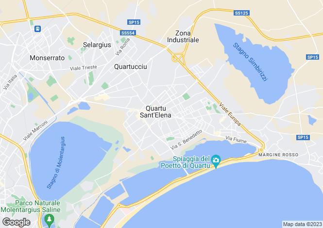 Map for Sardinia, Cagliari, Quartu Sant`Elena