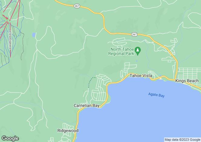 Map for California, Carnelian Bay