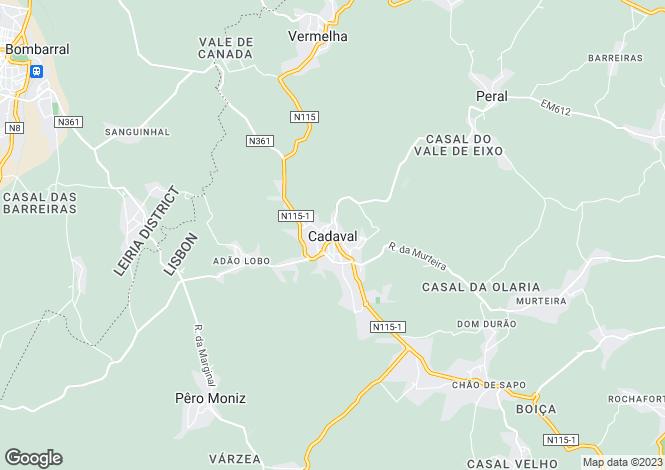 Map for Cadaval, Lisbon, 2550, Portugal
