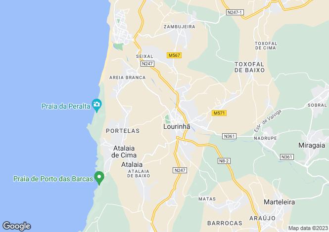 Map for Lisbon, Lourinhã