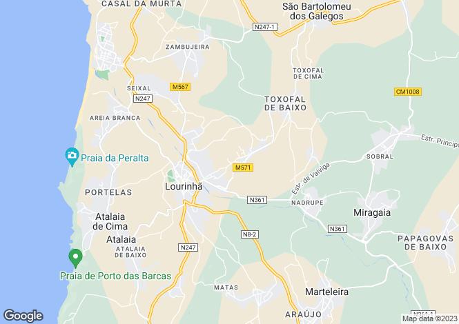 Map for Portugal,Lisboa,Lourinhã