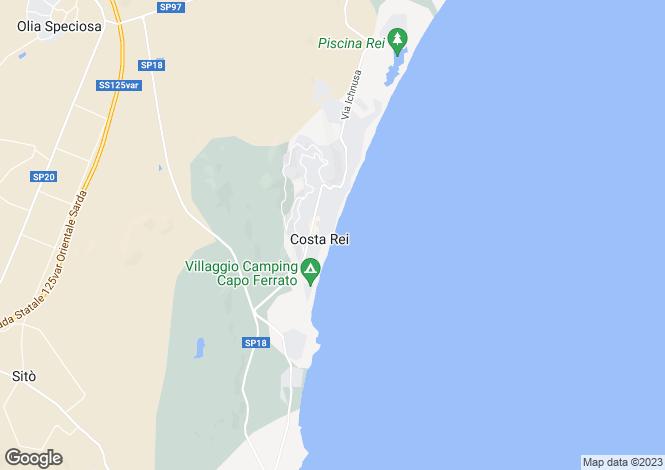 Map for Villa Alba, Costa Rei, Sardinia