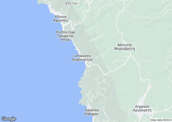 Map for Lefokastro, Pilio, Greece