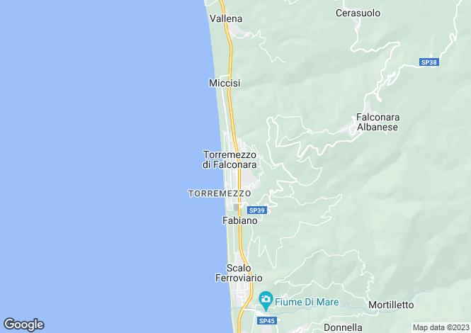 Map for Falconara Albanese, Cosenza, Calabria