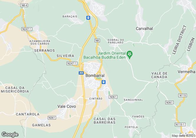 Map for Portugal,Leiria,Bombarral