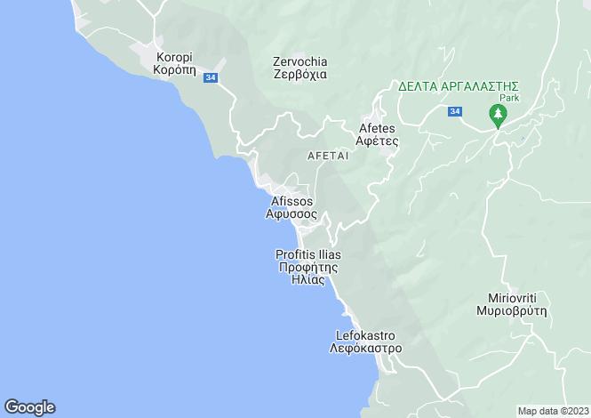 Map for Afissos, Pilio, Greece