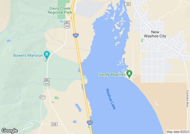 Map for Nevada, Carson City, Carson City