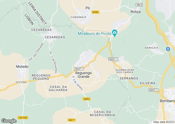 Map for Reguengo Grande, Lourinhã, Lisboa