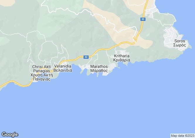 Map for Marathos, Nea Achialos, Greece